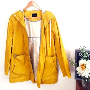 Bright Yellow BDG Fisherman's Rain Coat/Jacket